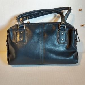 Relic Navy Blue Small Leather Zipper Bag